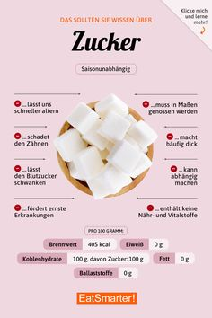 Das solltest du über Zucker wissen | eatsmarter.de #ernährung #infografik #zucker