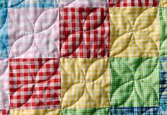 Orange Peel quilting with a walking foot.  definately trying this and check out the baby gingham quilt - so simple but lovely