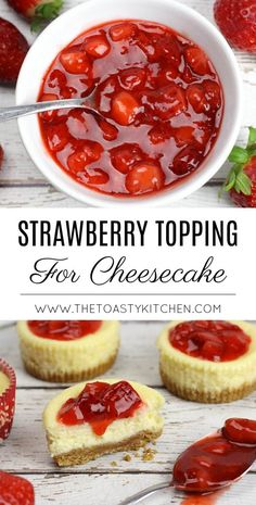 Strawberry Topping For Cheesecake By The Toasty Kitchen Strawberry Strawberries # erdbeer topping für käsekuchen von der toasty kitchen strawberry strawberries Strawberry Topping For Cheesecake By The Toasty Kitchen Strawberry Strawberries # Just Desserts, Delicious Desserts, Dessert Recipes, Yummy Food, Dessert Bars, Cheesecake Toppings, Cheesecake Desserts, Cheesecake Decoration, Turtle Cheesecake
