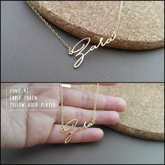 20% OFF // Font 47 //Custom name necklace  by barbabelle88 on Etsy