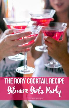 The Rory Cocktail recipe: How to throw the ultimate Gilmore Girls revival watch party! This guide includes a menu for desserts, drinks & epic party decor. // thinkelysian.com