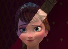 Elsa, Anna, & their mom...
