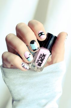 (Tuto nail art) The New Black // Des associations tendances ! | PSHIIIT