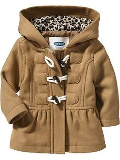 Peplum Toggle Coats for Baby (Old Navy 0-24m)