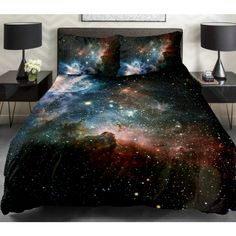 Childrens Bedding The Gifts For Boyfriend Set 2 Sides Printing Nebula Bedspreads Nebula Bed Linen Sheets With 2 Matching Nebula Pillow Cases