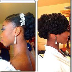 African American. Black Bride. Wedding Hair. Natural Hairstyles. charishair @charishair | Websta