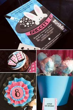 Adorable Pink & Blue Magic Party  #hwtm  http://blog.hwtm.com/