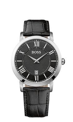 Hugo Boss 1513137 Classic Gentlemen Black Leather Strap #Men's #Watch  Price: €215.00