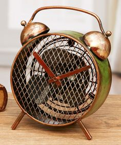 Another great find on #zulily! Alarm Clock Metal Fan #zulilyfinds
