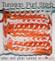 Tunisian Purl Stitch is the next Tunisian stitch on the agenda! Master this one and you'll by making all sorts of Tunisian patterns before you know it!