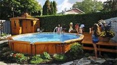 22 best pool please images on pinterest gardens for Above ground pool decks tampa