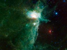 The Flame Nebula - flame, green, NASA, nebula, Space