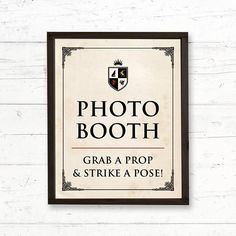 Game of Thrones Renaissance Photo Booth Printable Sign by CrissyDesignCo