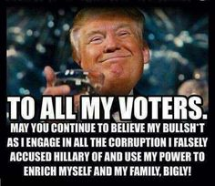 Sleazy Bastards: Lies Trump Supporters Pretend To Believe Screwed Up, Believe, Shit Happens, Words, Memes, Anti Trump Meme, Trump Idiot, Gop Party, Republican Party