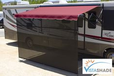 Vista Shade for Electric RV Awnings are the only RV awning shades made specifically for RV awnings. Simply the easiest to set up on the market today. Roll Out Awning, Awning Shade, Shade Screen, Electric Awning, Outdoor Camping, Bag Storage, Rv, Shades, Outdoor Decor
