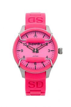 SYL120P - Superdry Scuba Pink dames horloge