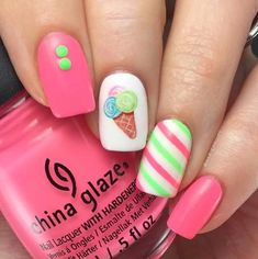 Expand fashion to your nails with nail art designs. Donned by fashion-forward stars, these kinds of nail designs will incorporate instant charm to your apparel. Spring Nail Art, Spring Nails, Summer Nails, Acrylic Nails For Summer Bright, Fall Nails, Holiday Nails, Nails For Kids, Girls Nails, Little Girl Nails