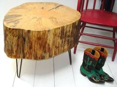 How to re-use a stump ... hairpin legs or wheels