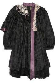 Marc JacobsEmbellished ruffled silk-blend gazar mini dress