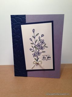 Stamp Pad, Embossing Folder, Flower Cards, Carry On, Stampin Up, Birthday Cards, Greeting Cards, Texture