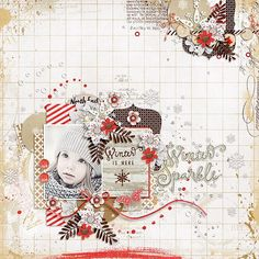 Image result for winter snowball fight digital scrapbook page layout