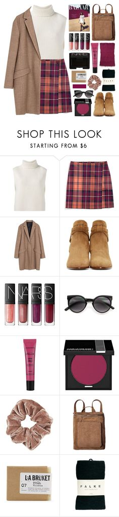 """""""effervescence"""" by randomn3ss ❤ liked on Polyvore featuring Étoile Isabel Marant, Tommy Hilfiger, Zara, Yves Saint Laurent, NARS Cosmetics, Stila, MAKE UP FOR EVER, Topshop, Club Monaco and Falke"""