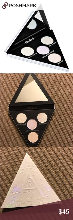 KAT VON D Alchemist Holographic Highlighting Palet KAT VON D Alchemist Holographic Highlighting Palette - 100% Authentic! Used once for SWATCHING purposes only. This was NEVER used in anyone's face, so it is basically just like new. Kat Von D Makeup Luminizer