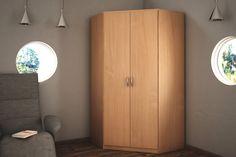 Rohová 2-dverová šatníková skriňa ALEŠ Vám poskytne množstvo úložného priestoru. K dispozícií máte 2 vešiakové tyče a 4 priestranné police. V modernom farebnom prevedení buk. K dispozícií máte ďalších 6 farebných prevedení na výber. #byvanie #domov #nabytok #skrine #klasickeskrine #modernynabytok #designfurniture #furniture #nabytokabyvanie #nabytokshop #nabytokainterier #byvaniesnov #byvajsnami #domovvashozivota #dizajn #interier #inspiracia #living #design #interiordesign #inšpirácia Armoire, Tall Cabinet Storage, Furniture, Home Decor, Clothes Stand, Decoration Home, Closet, Room Decor, Reach In Closet