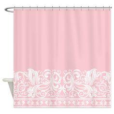 Light Pink Damask Shower Curtain on CafePress.com