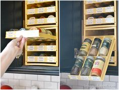Kitchen Gadget Alert: Spice Storage. Seriously, like we need this. Our spices are out of control.