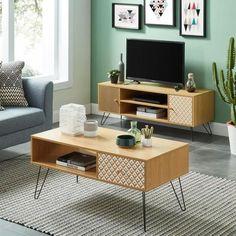 Tv Ch, Living Room Color Schemes, Living Room Designs, Dark Blue Bedroom Walls, Tv Vintage, Bohemian Interior Design, Green Rooms, Retro Home Decor, Room Colors
