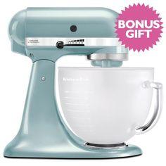 5d63d5eb9ba5 KitchenAid Platinum KSM156 Stand Mixer Frosted Azure Kitchen Appliances  Brands