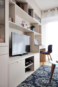 armario habitacion amenagement salon meuble tele cote maison decoration petit appartement deco