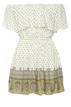 Cute off the shoulder style dress. 100% viscose.