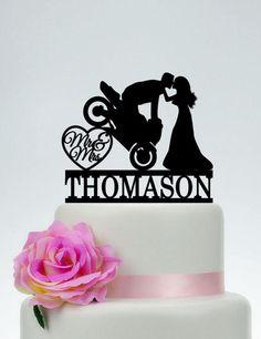 Gâteaux de mariage moto Mr et Mme Cake Topper marié sur la