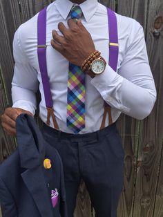 Groom Suspenders, Suspenders Fashion, Suit Fashion, Mens Fashion, Fasion, Formal Men Outfit, Gentlemen Wear, Classy Men, Wedding Suits