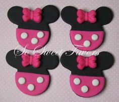 Fondant edible cupcake toppers  Minnie Mouse by sweetfavors08, $12.95