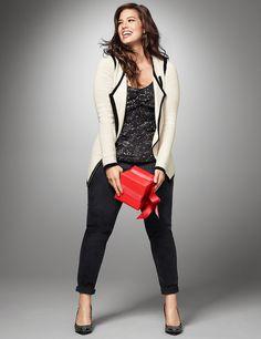 Plus Size Moto Sweater Jacket | Lane Bryant