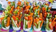 Simple, healthy party food...prevents double dipping!