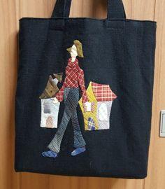 ※ 미니 에코백 : 네이버 블로그 Patchwork Bags, Quilted Bag, Applique Quilts, Pattern Paper, Embroidery Patterns, Purses And Bags, Projects To Try, Patches, Reusable Tote Bags