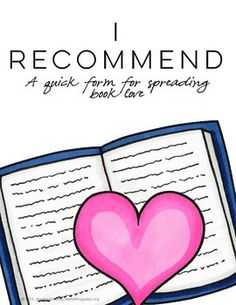 I Recommend: An Easy Way to Spread Book Love