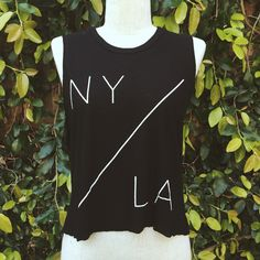 N.Y./L.A. Muscle Tank, Black