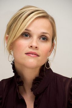 """beautiful example of Light Summer's """"black"""", a very deep rose brown (almost raisin) :: Reese Witherspoon"""