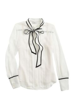 J.Crew Secretary Bow Blouse.