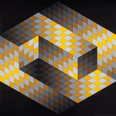 Victor Vasarely (1906-1997) Gestalt 2 screenprint in colours, 1970, signed in black ball-point pen, the edition was 200, on Schoeller Parole stiff wove, the full sheet printed to the edges, sheet 800 x 800 mm (31 1/2 x 31 1/2 in)