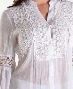 Fashion Sexy Crochet (3/4) Sleeve Blouse.