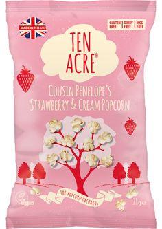 Cousin Penelope's Strawberry & Cream Popcorn - Ten Acre