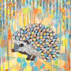'Helix Showing off His New Look' by Josephine Kimberling Painting Print on Canvas
