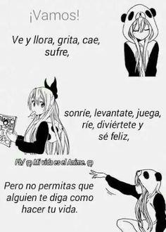 Anime Devil, Sad Anime, Otaku Anime, Kawaii Anime, Funny Spanish Memes, Spanish Humor, Funny Jokes, Sweet Quotes, True Quotes
