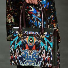 Psychedelic marble printed @Vivienne La Tam purse #nyfw #fw14 #stylesightfashionweek